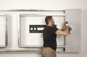 Chemia budowlana - Zabudowa telewizora LCD z płyt gips-kartonowych. Jak wykonać